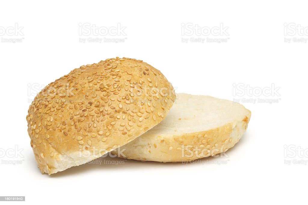 bun with sesame seeds royalty-free stock photo