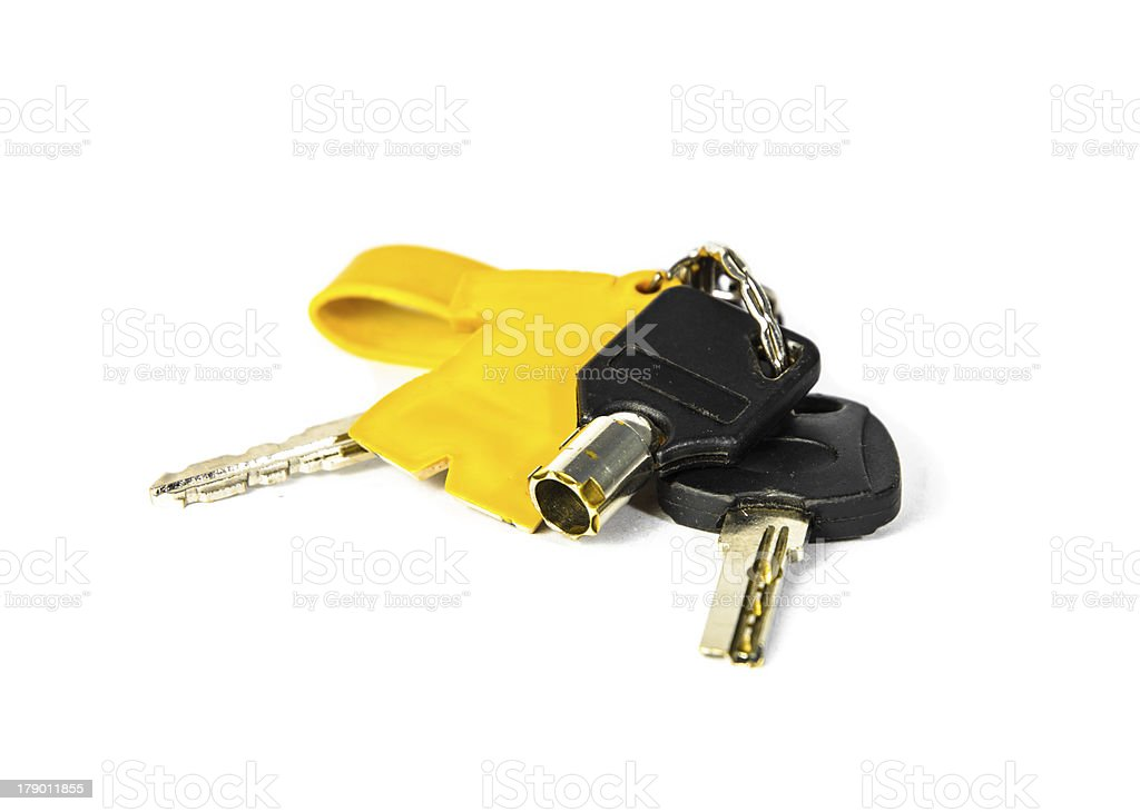 Bunch and key isolate stock photo