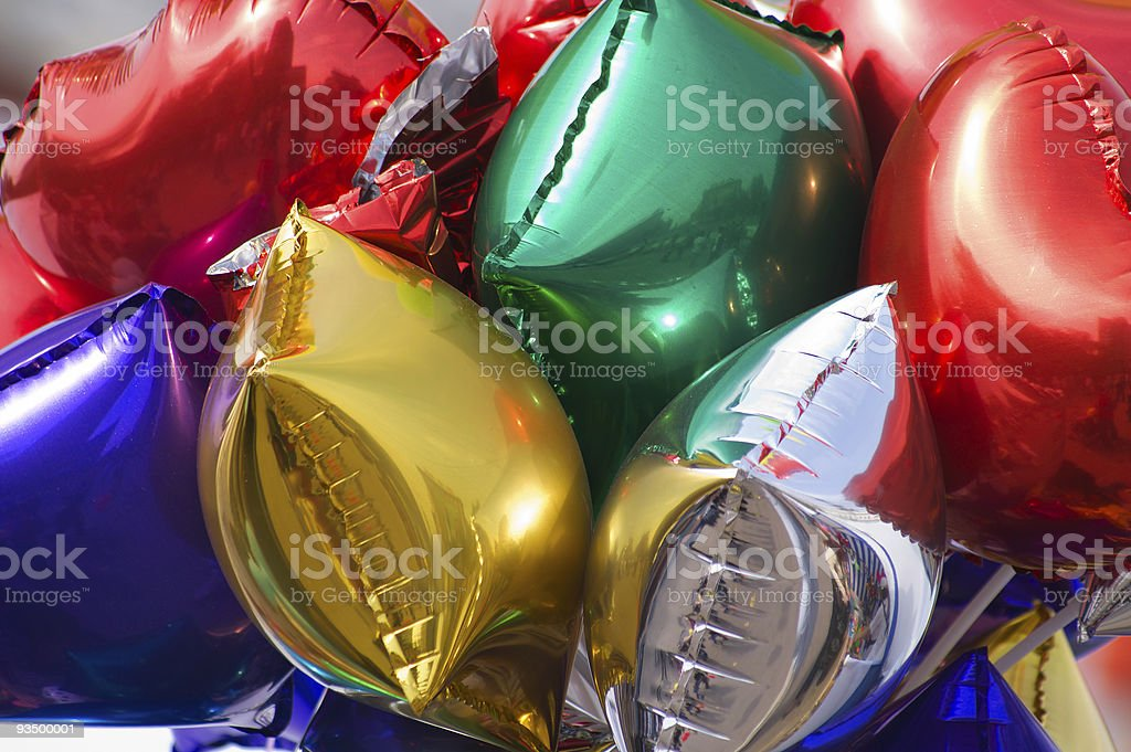 bunch balloons stock photo