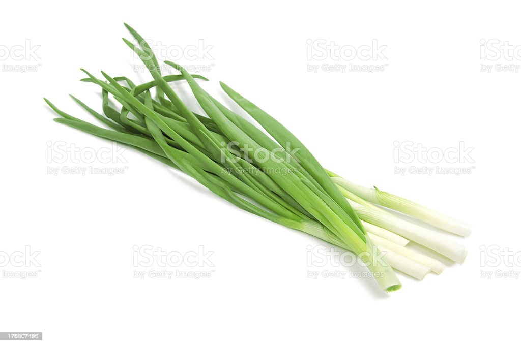 Bunch green onions royalty-free stock photo