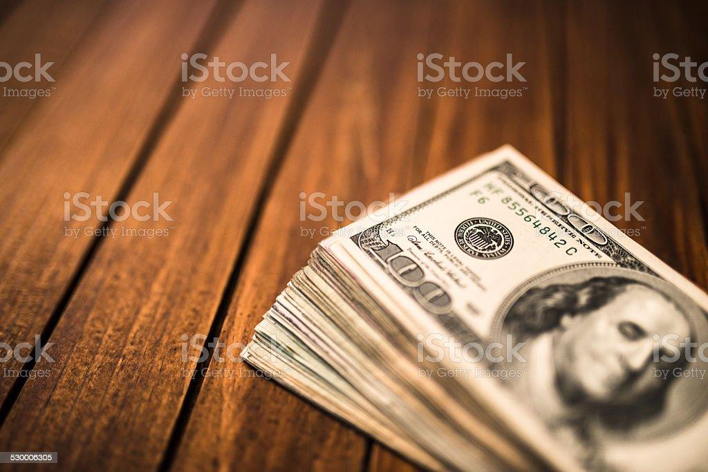 Bunch of American dollars stock photo