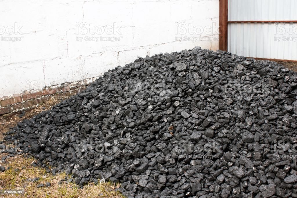 A bunch of anthracite close-up stock photo