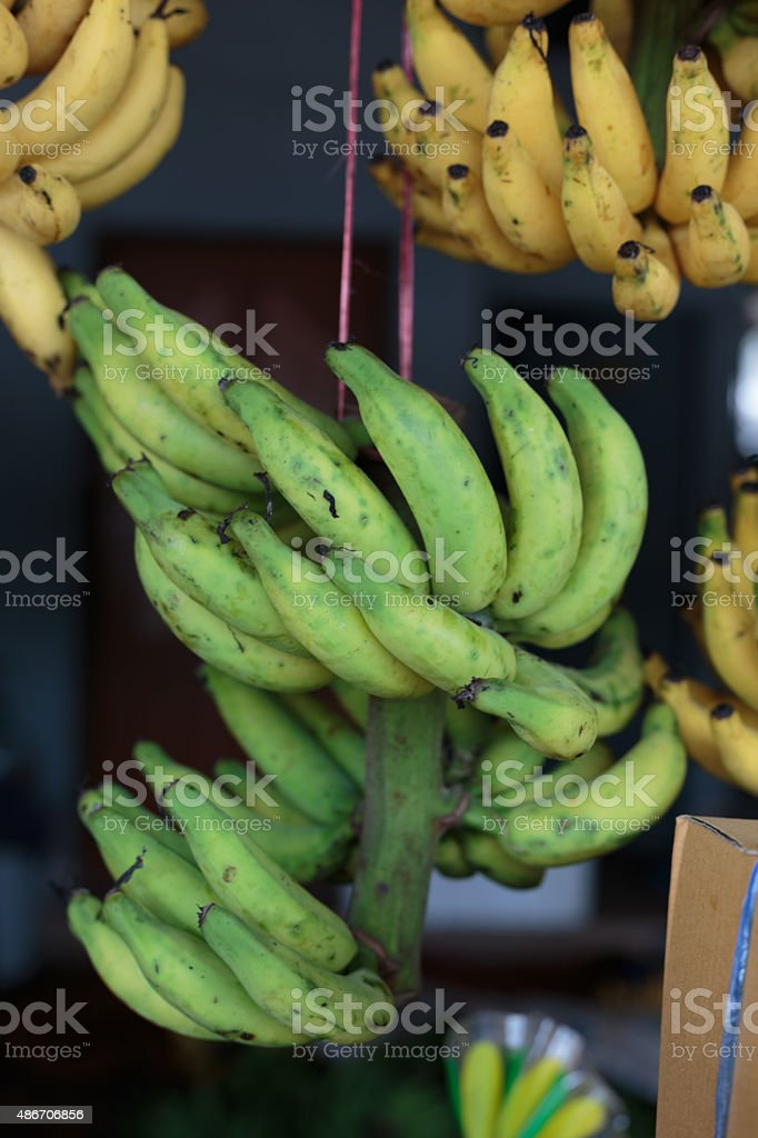 Bunch of bananas in Market Street stock photo