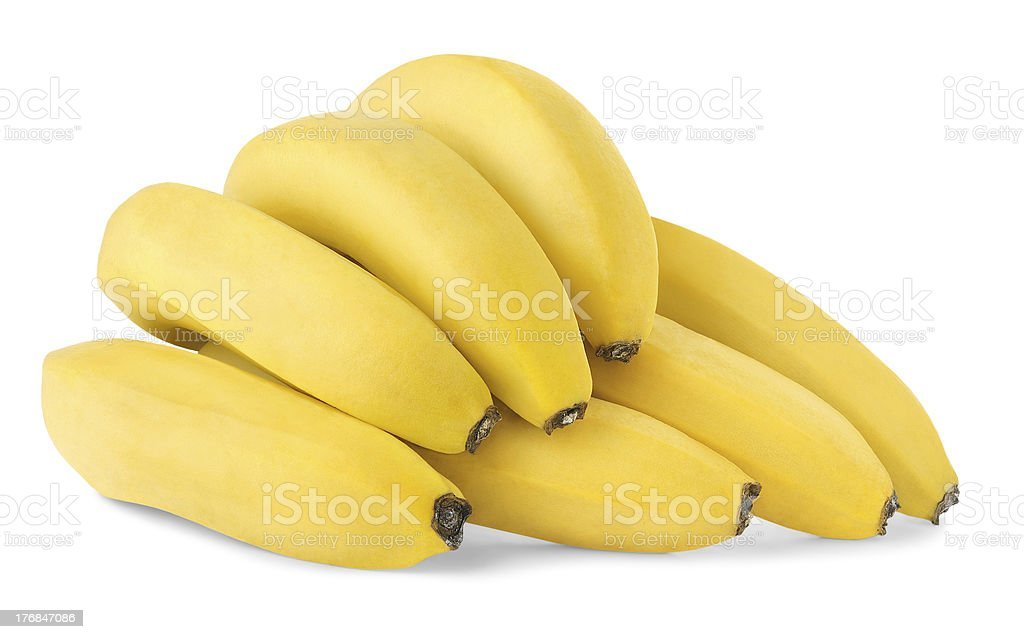 Bunch of bananas isolated on white royalty-free stock photo