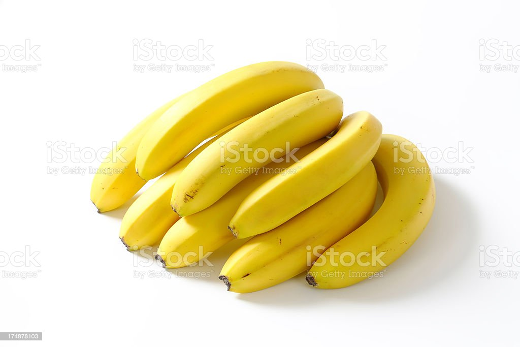 bunch of bananas royalty-free stock photo