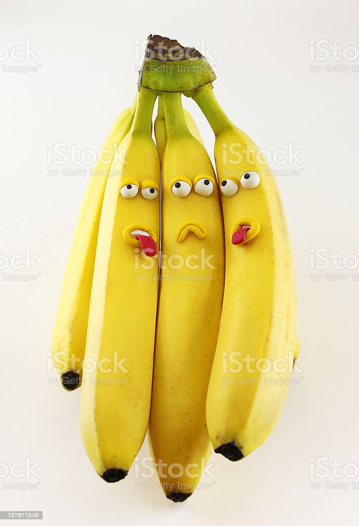Bunch of Bananas Portrait royalty-free stock photo