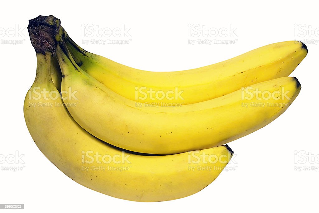 Bunch of Bananas w/ Path stock photo