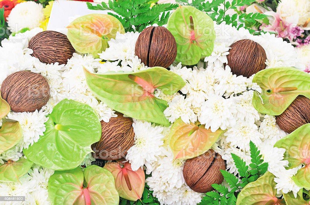 Bunch of beautiful flowers decoration stock photo
