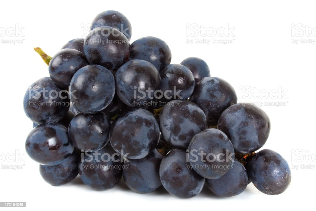 Bunch of Black Grapes laying royalty-free stock photo