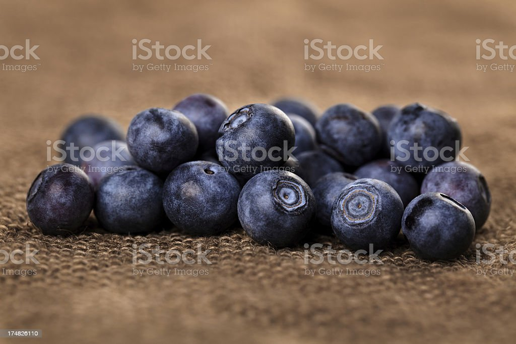 Bunch of Blueberries royalty-free stock photo