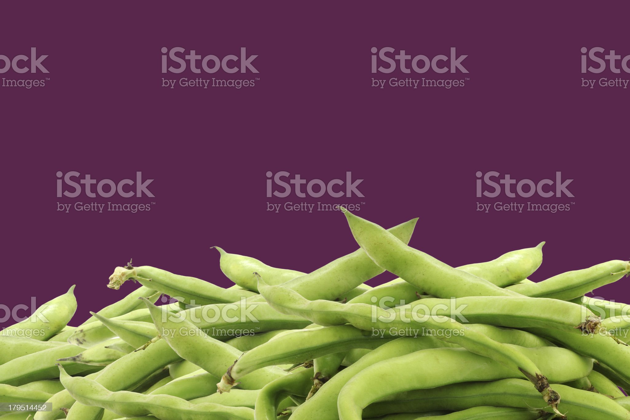 bunch of broad beans royalty-free stock photo