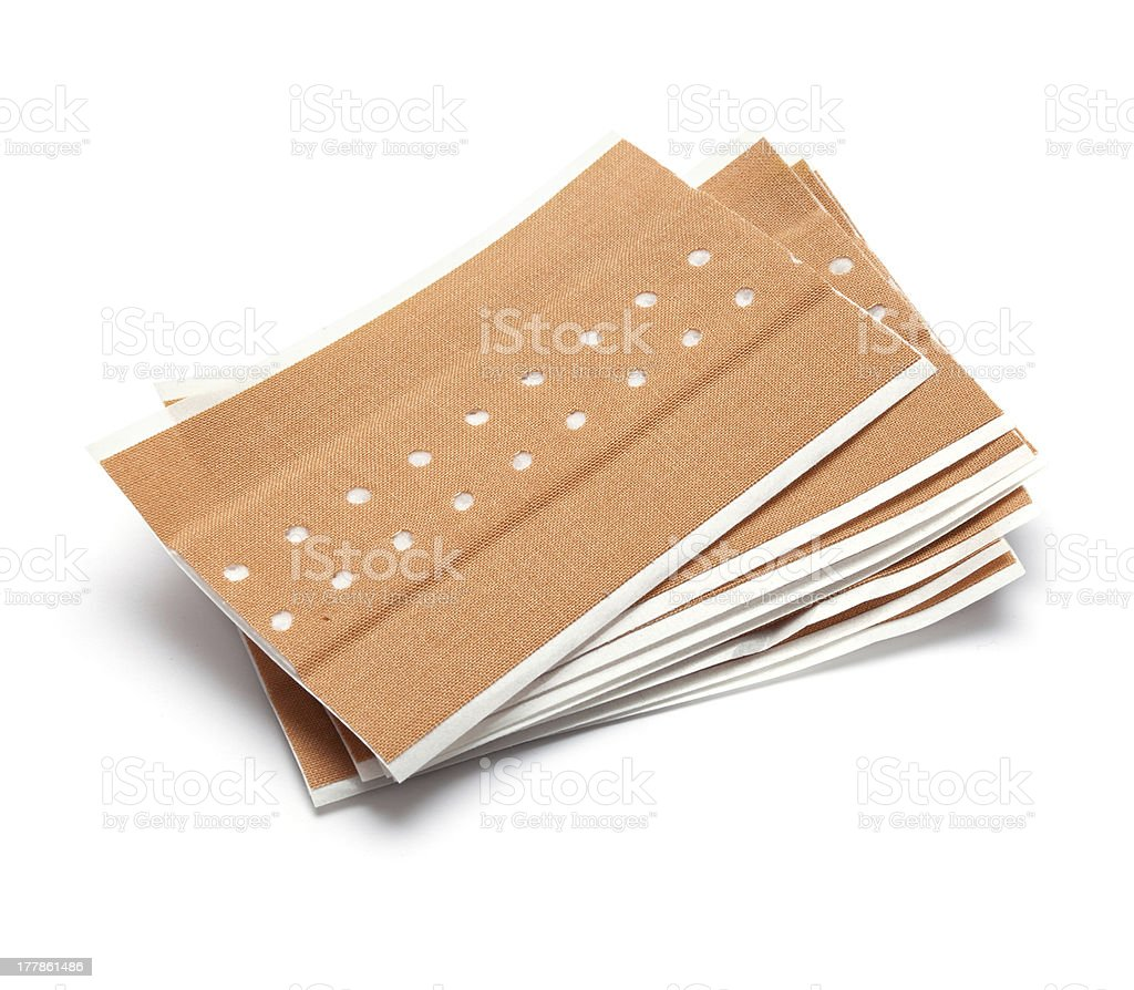 Bunch of brown band aids royalty-free stock photo