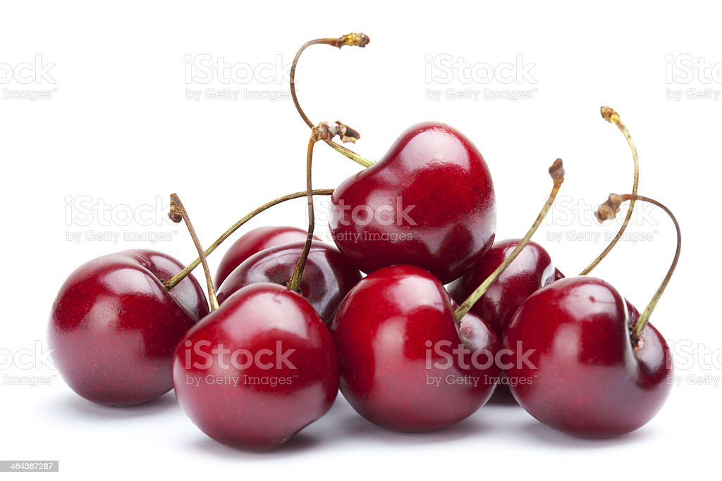Bunch of cherries stock photo