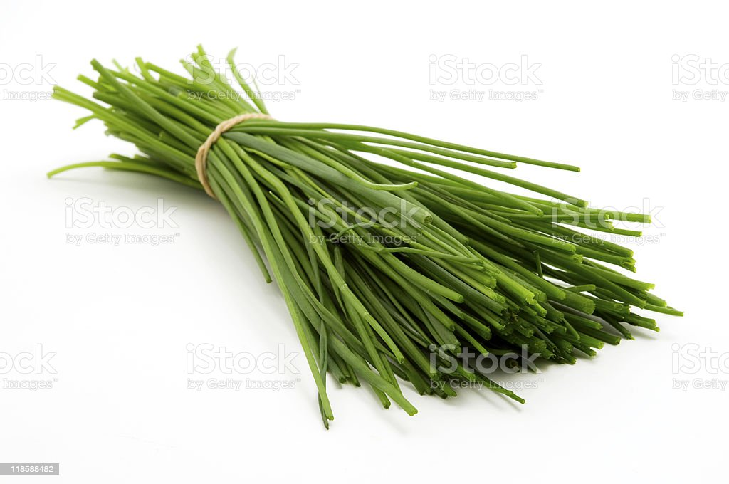 Bunch of chives stock photo