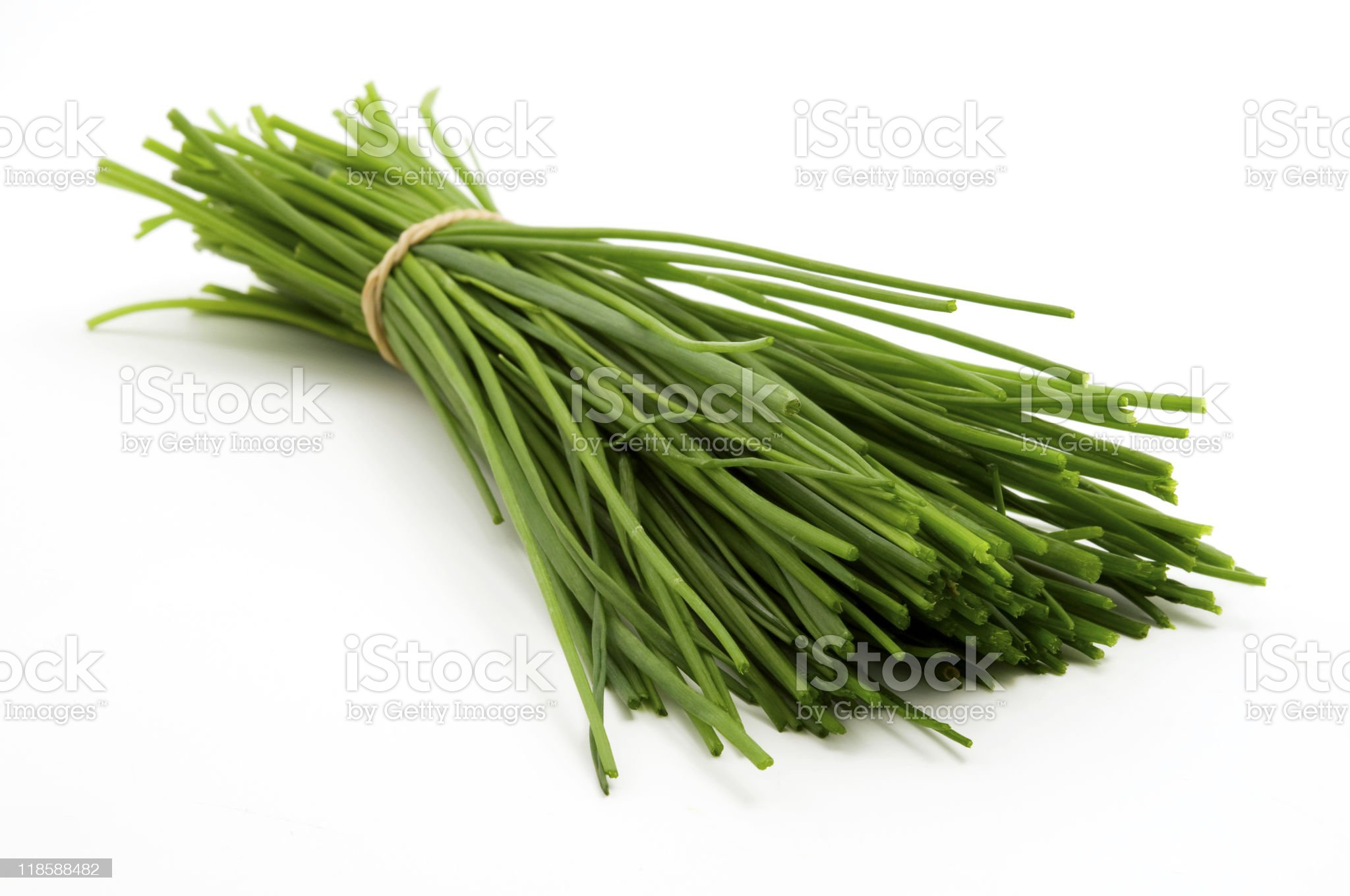 Bunch of chives royalty-free stock photo
