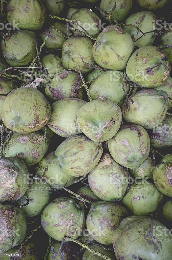 Bunch of Coconuts royalty-free stock photo