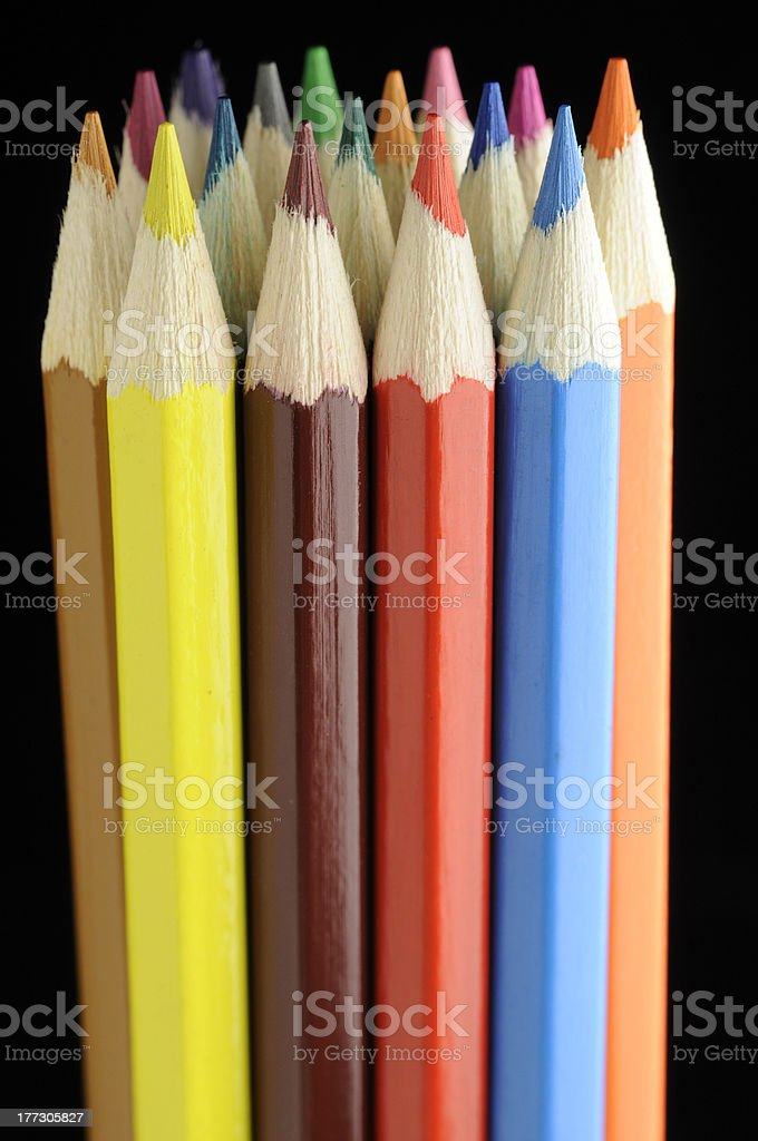 Bunch of Color Pencils royalty-free stock photo
