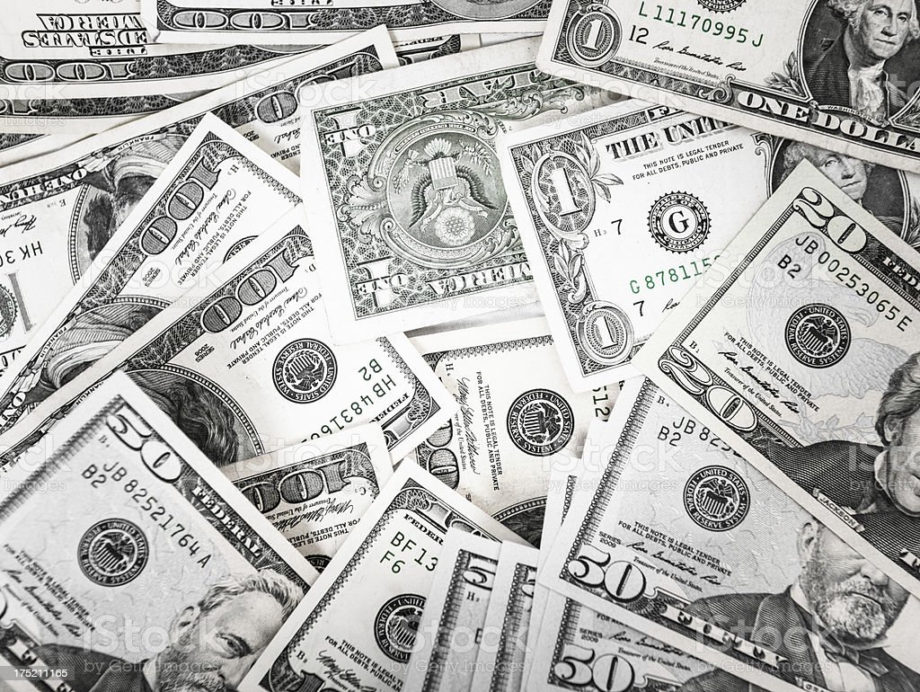 Bunch of dollars royalty-free stock photo