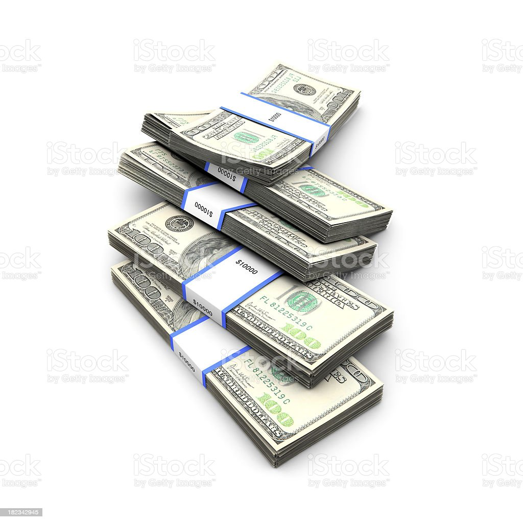 Bunch of Dollars stock photo