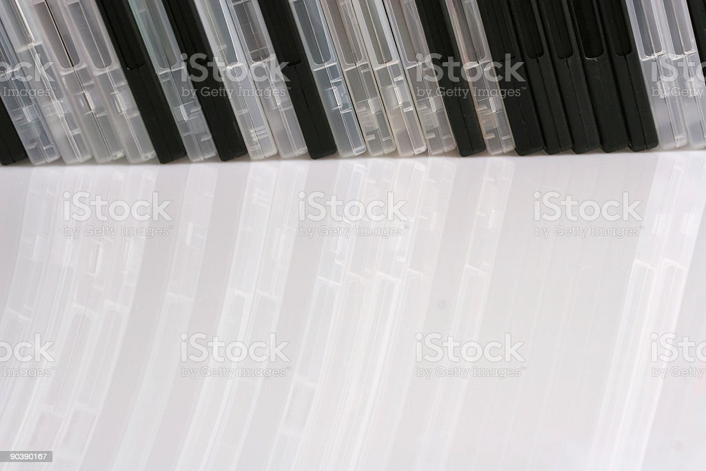 Bunch of DVDs royalty-free stock photo