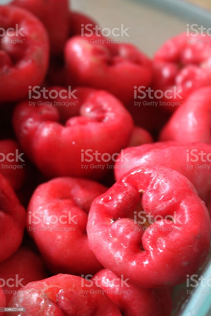 Bunch of exotic makopa or rose apples stock photo