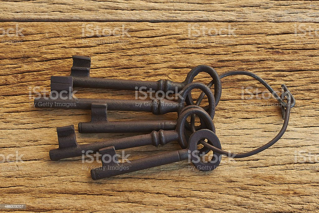 bunch of five keys royalty-free stock photo