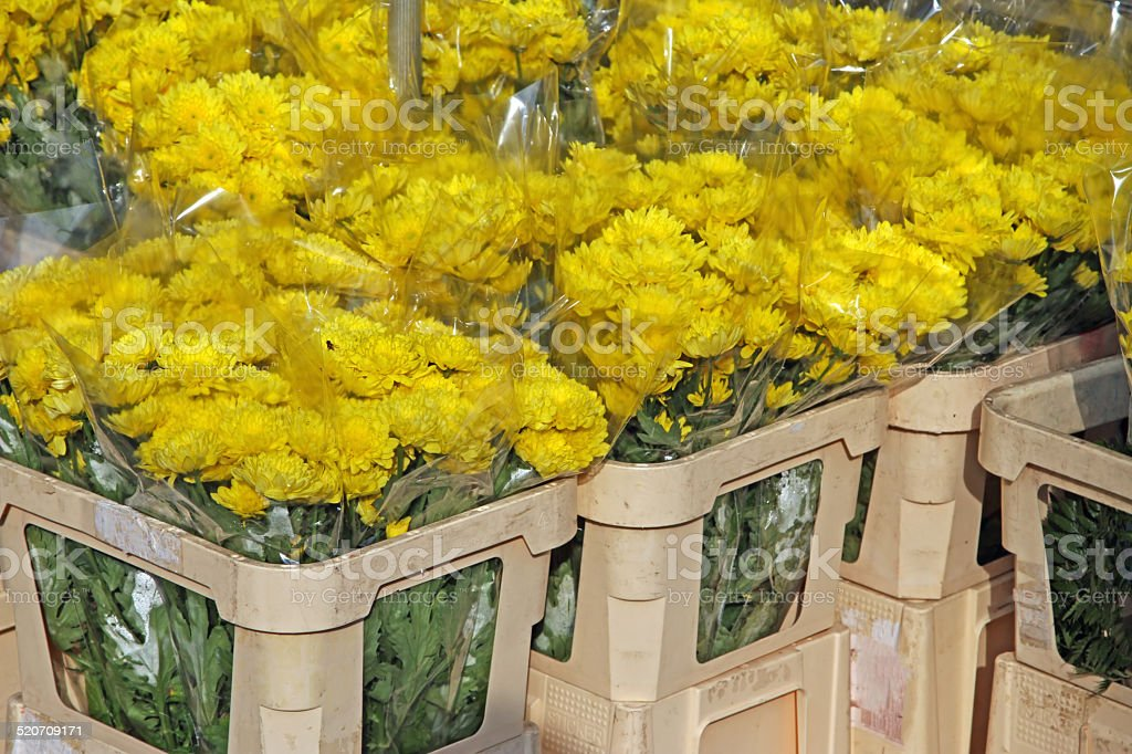 bunch of flowers for sale by wholesale florist stock photo