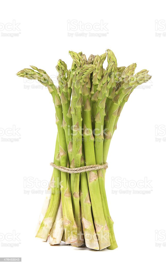 Bunch of fresh asparagus royalty-free stock photo
