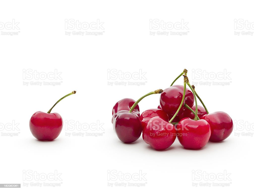 Bunch of fresh cherries stock photo