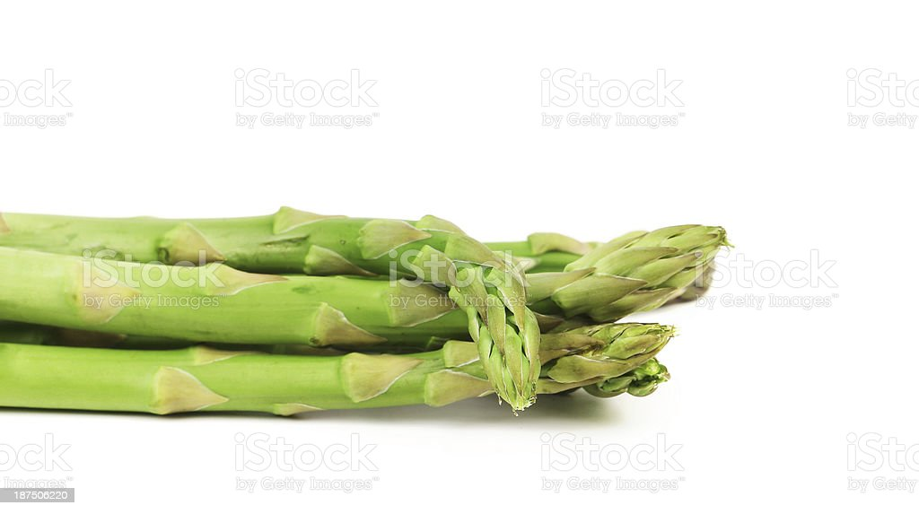 Bunch of fresh green asparagus. royalty-free stock photo