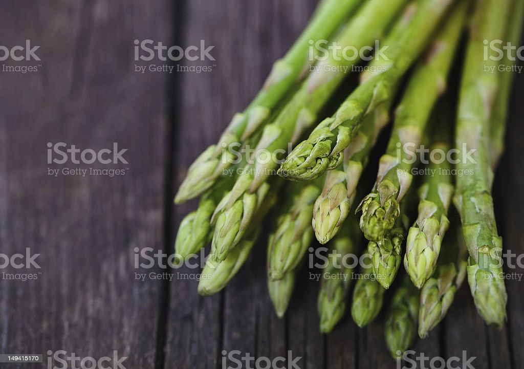 Bunch of fresh green asparagus spears stock photo