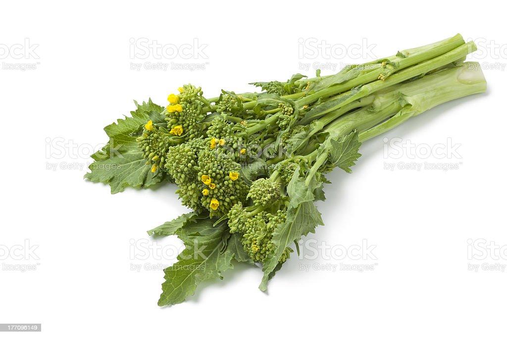 Bunch of fresh picked Broccoli rabe stock photo
