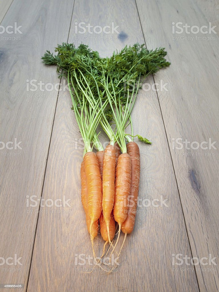 Bunch of Freshly Picked Carrots stock photo