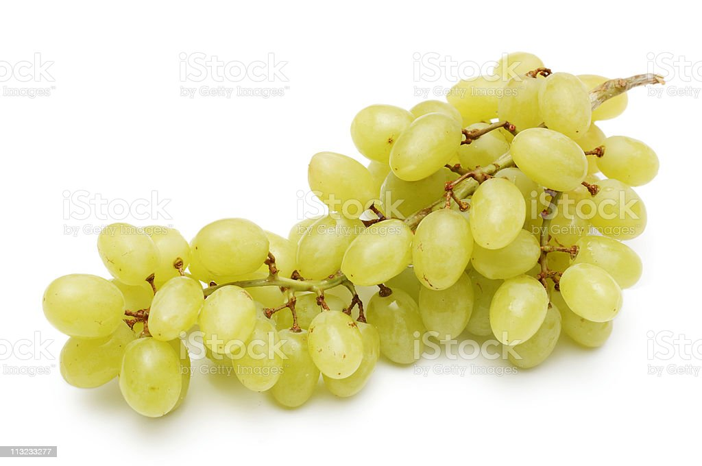 bunch of  grapes isolated against white royalty-free stock photo