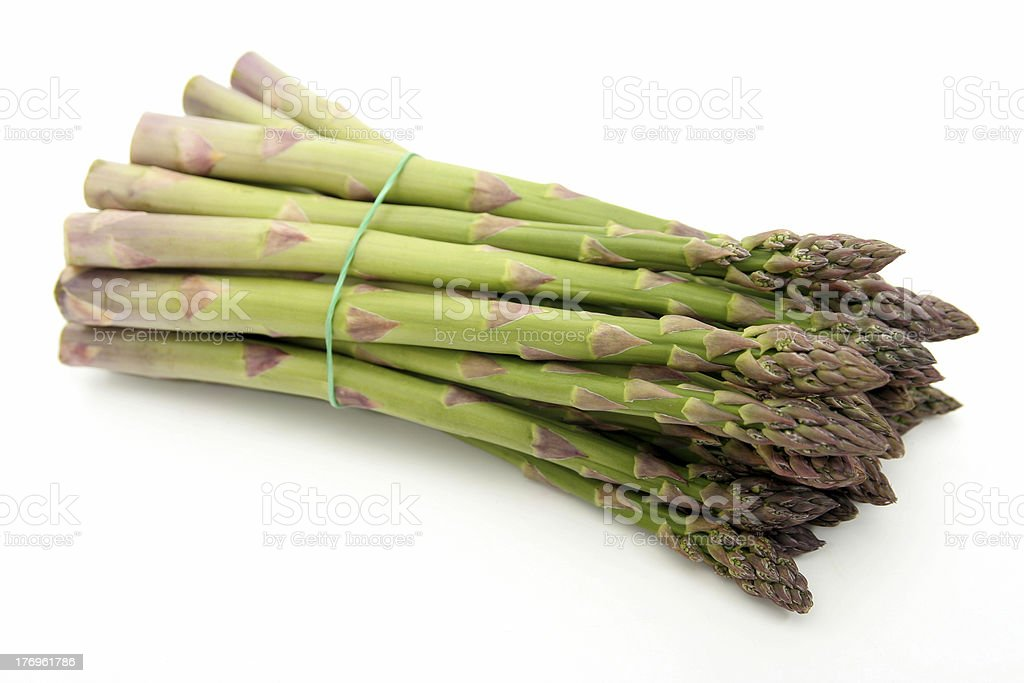 Bunch of green asparagus royalty-free stock photo