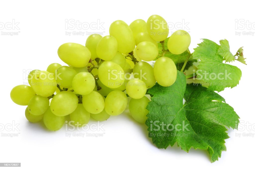 Bunch of Green Grapes Isolated royalty-free stock photo