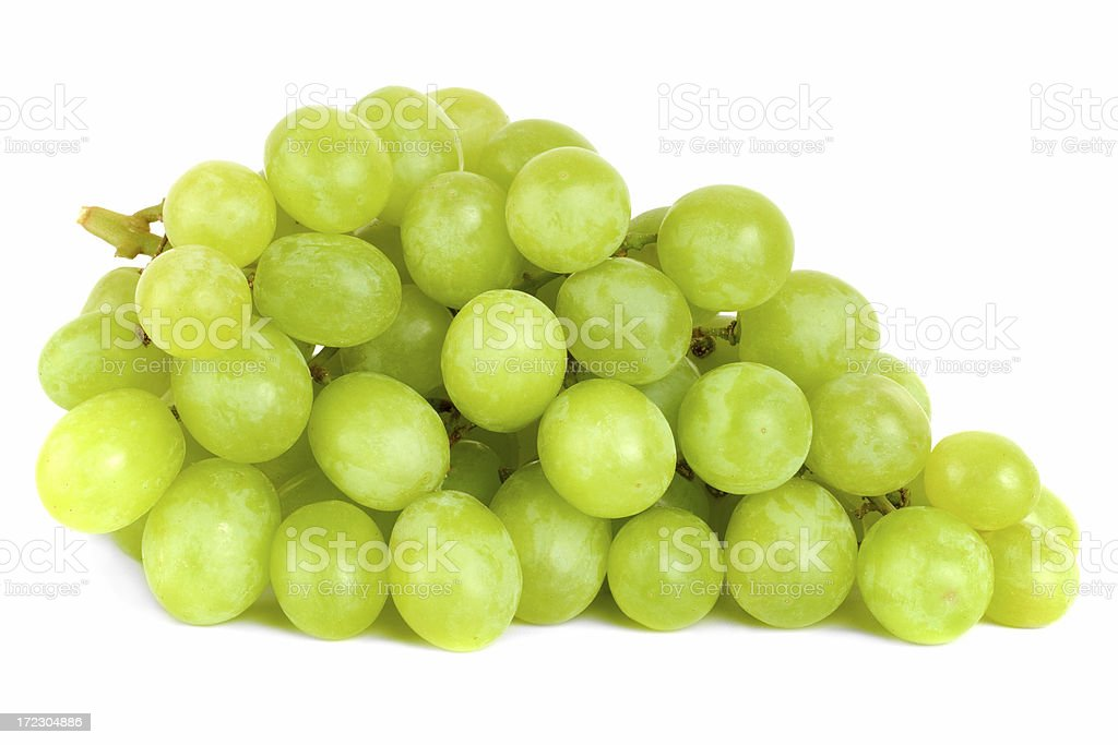 Bunch of Green Grapes laying stock photo