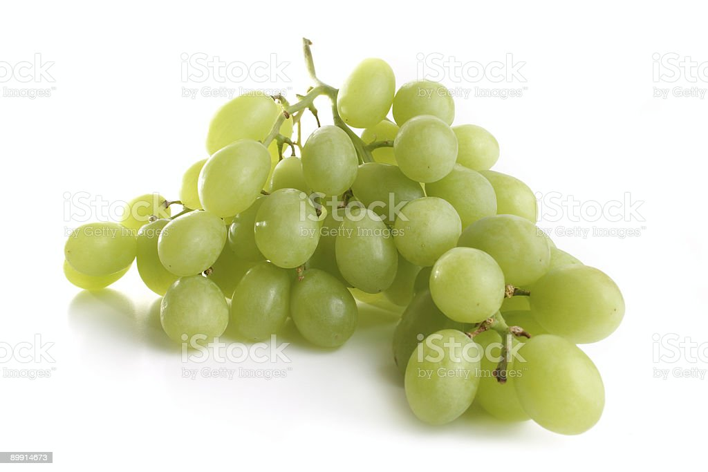 Bunch of green grapes royalty-free stock photo