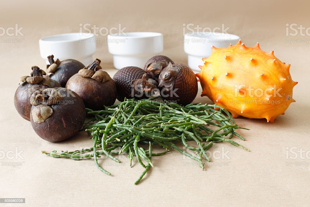 Bunch of healthy food stock photo