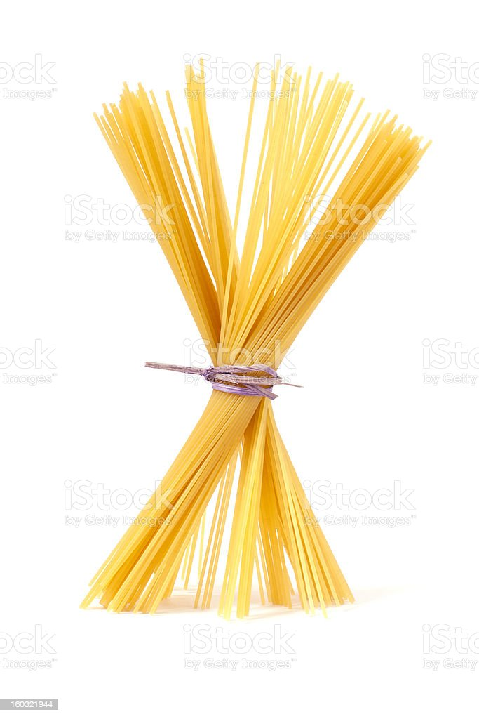 Bunch of italian spaghetti stock photo