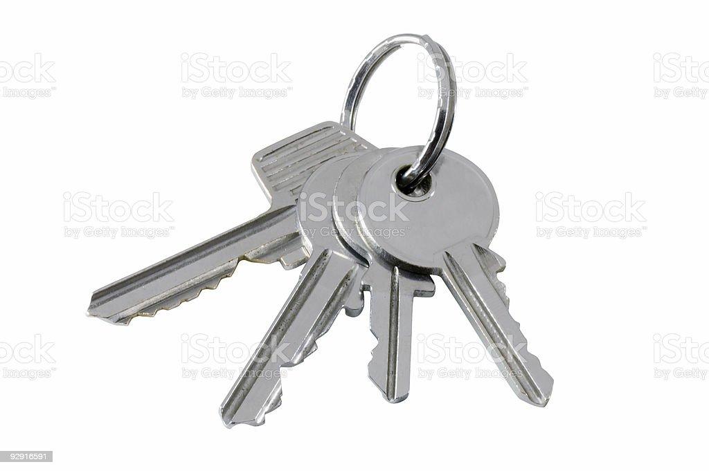 Bunch of keys (no drop shadow) stock photo