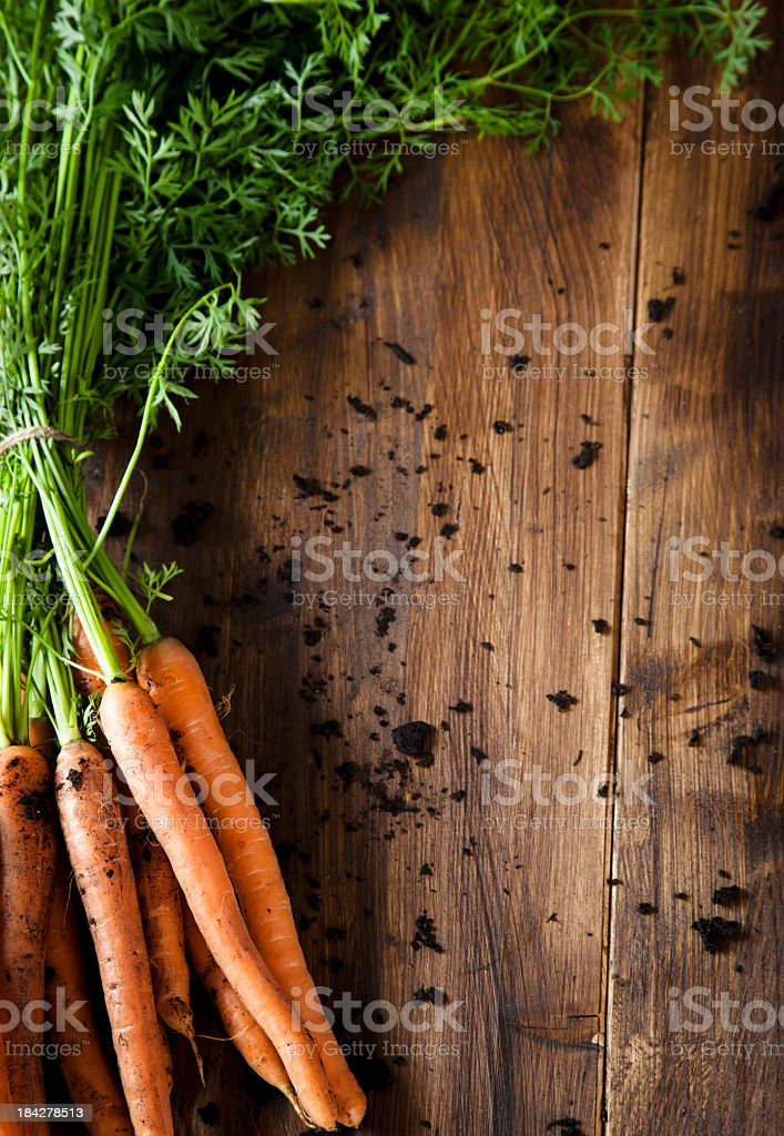 Bunch of Organic Carrots stock photo