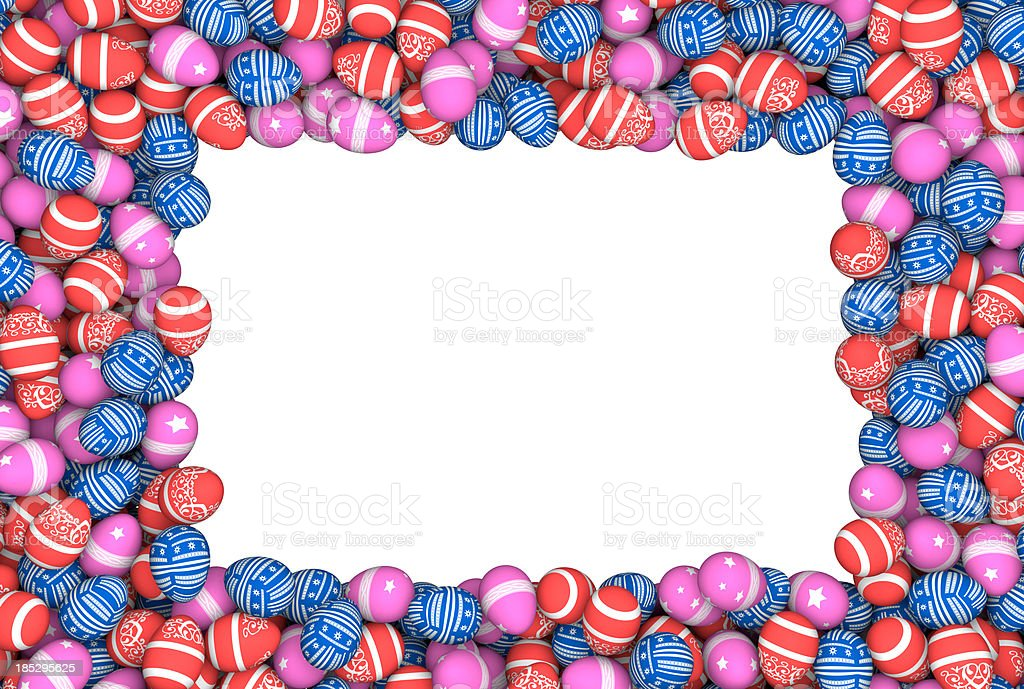 bunch of ornamented easter eggs royalty-free stock photo