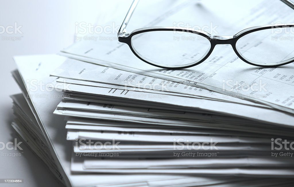 bunch of paperwork royalty-free stock photo