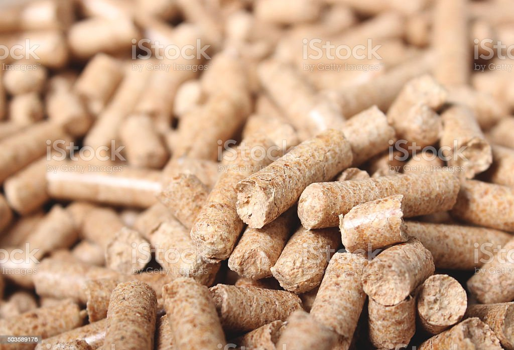 Bunch of pellets stock photo