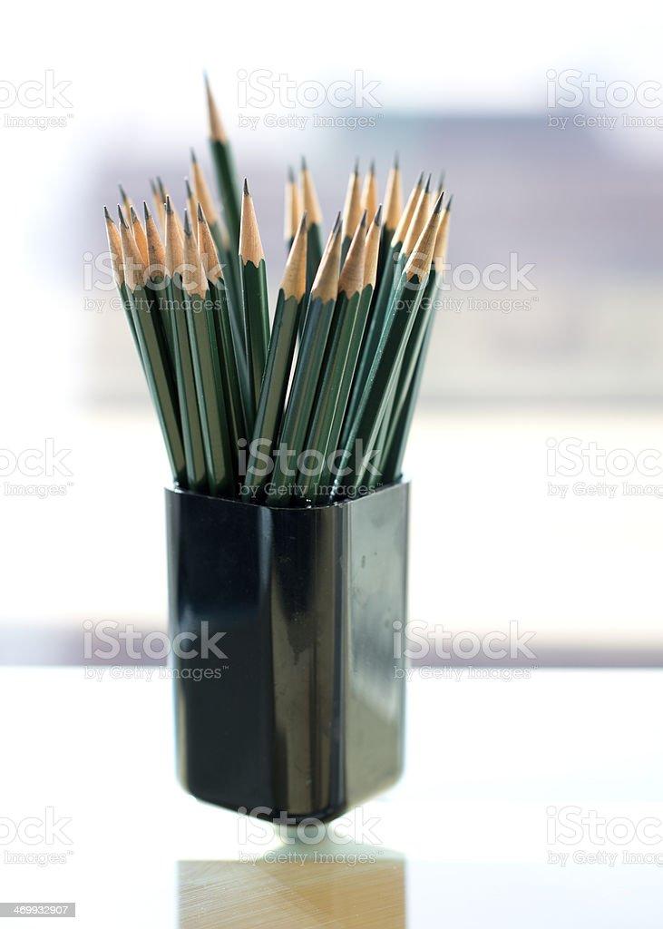 Bunch Of Pencils stock photo