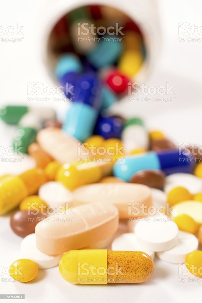 Bunch of pills royalty-free stock photo
