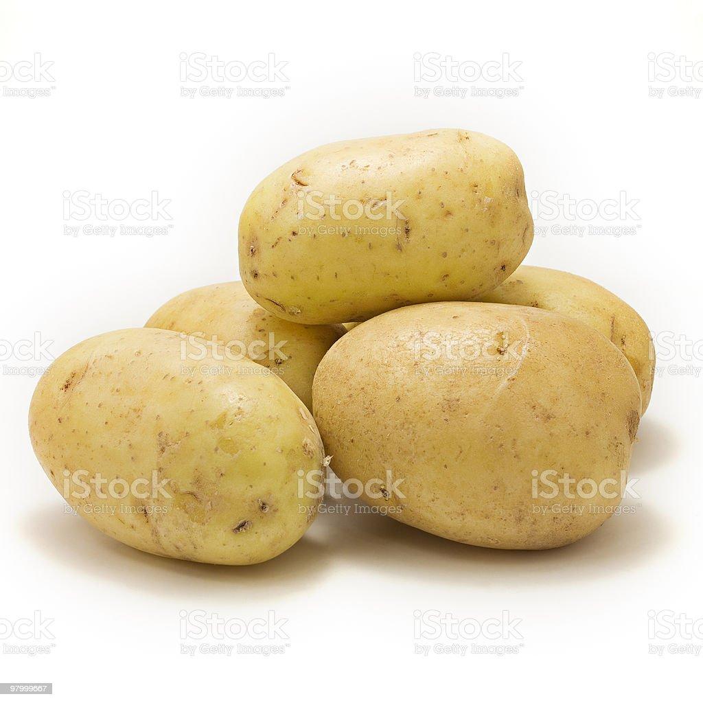 bunch of potatoes stock photo