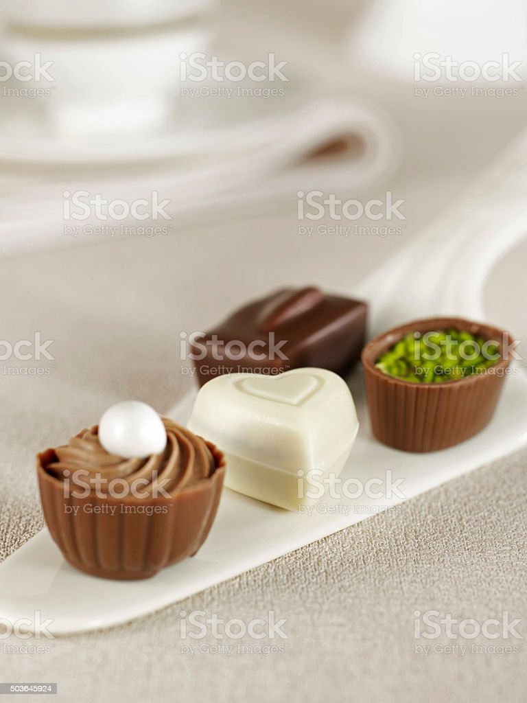 Bunch of Quality Chocolates stock photo
