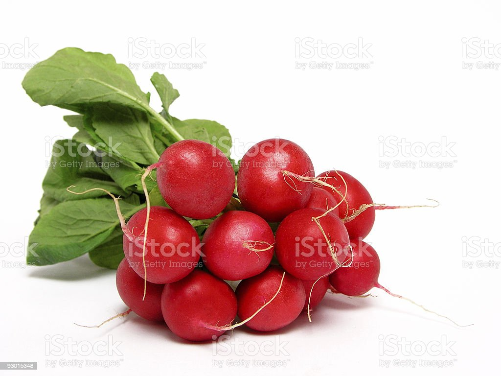 bunch of radishes royalty-free stock photo